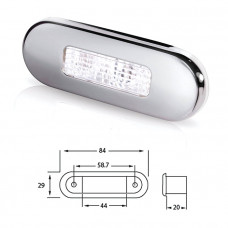 Светильник для подсветки палуб и трапов светодиодный 84х29 мм, белый свет
