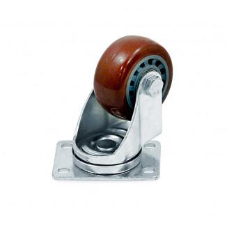 Колесо на поворотном кронштейне 75 мм (PU)