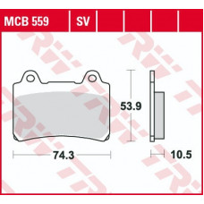 Колодки тормозные (серия Organic Allround) MCB559