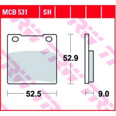 Колодки тормозные (серия Organic Allround) MCB531