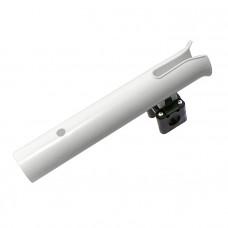Держатель спиннинга  на леер, 300х45 мм, белый пластмассовый