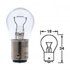 Лампочка BA15d 12V/10W для навигационных огней