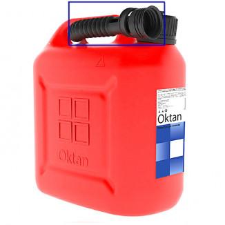 Канистра для бензина 10л с заливным устройством CLASSIC (Уц)