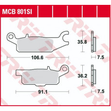 Колодки тормозные (серия Sinter Offroad) MCB801SI