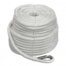 Плетеный якорный трос 10мм*45м белый