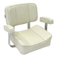 Сиденье мягкое 400х460 мм, DELUXE CAPTAIN белое (Уц)