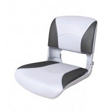 Сиденье пластмассовое складное с подложкой Deluxe All Weather Seat, бело-чёрное