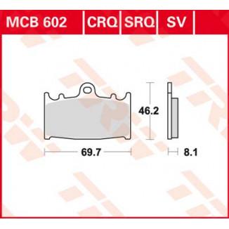 Колодки тормозные (серия Sinter Street SV) MCB602SV