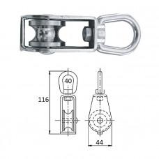 Блок 1-шкив. со скобой 40 мм
