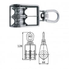 Блок 2-шкив. со скобой 40 мм