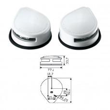Огни бортовые светодиодные 34х77х92 мм, белый корпус