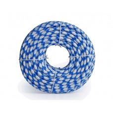 Шнур яхтенный ЭКСТРИМ 10мм бело-синий