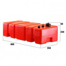 Канистра для топлива ELFO 52/58л дополнительная