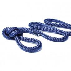 Трос швартовый 10мм*9м тёмно-синий