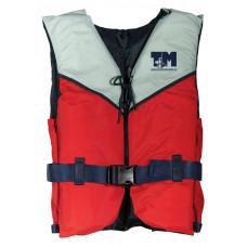 Жилет спасательный Регата 90+ красно-серый