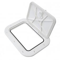 Крышка рундука 377х277 белая пластмасса